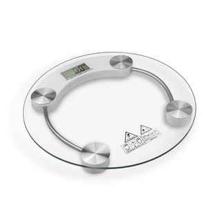 Modern Glass 4-Digit LCD Display Bathroom Scale