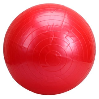 Fitness 55cm Red Exercise Yoga Ball with Pump