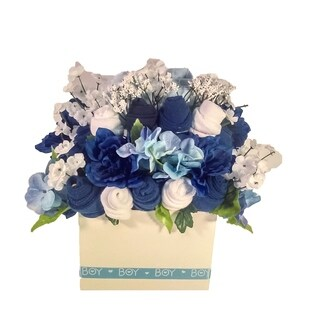 'Its a Boy' Blue and White Baby Clothing Bouquet
