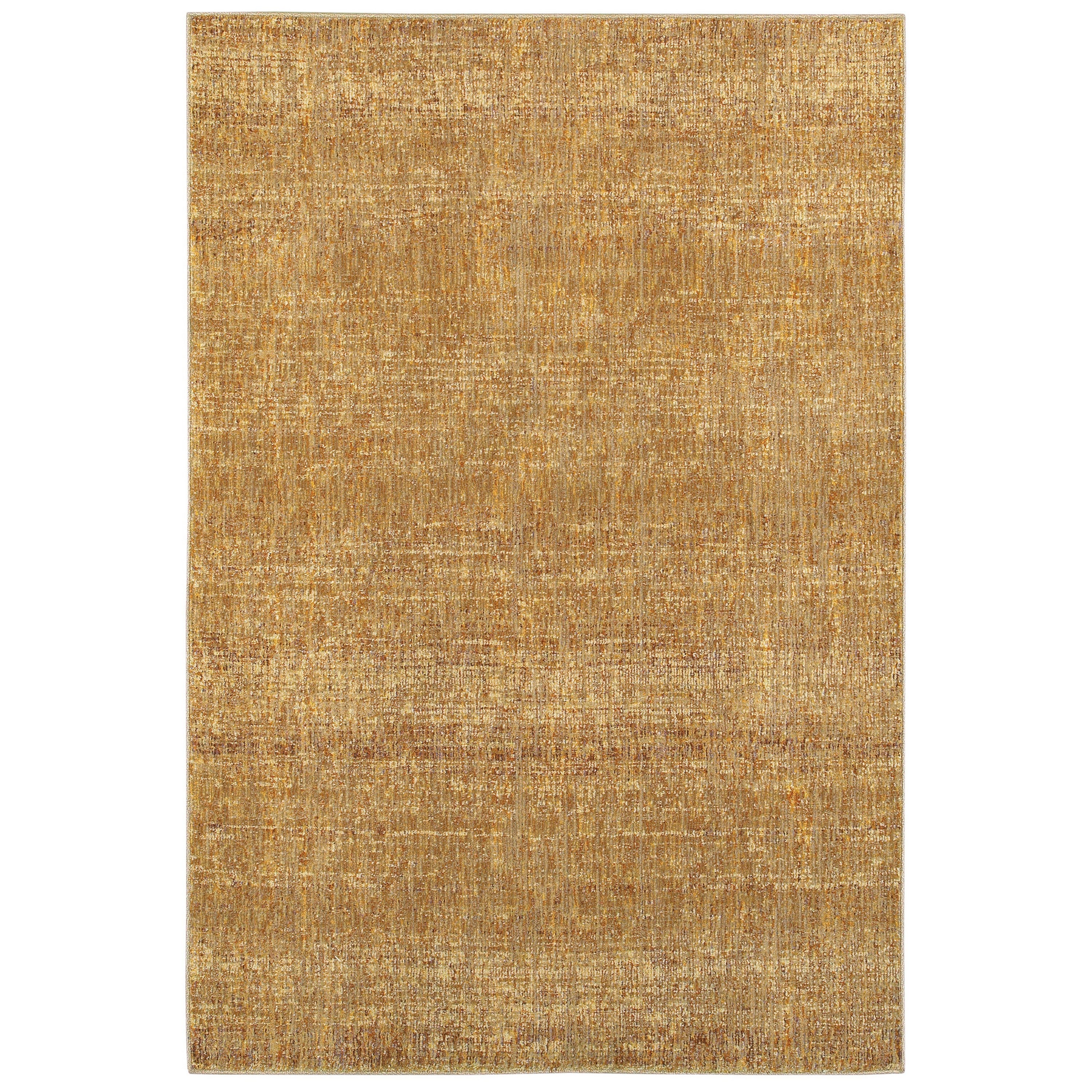Style Haven Tonal Textures Gold/Yellow Area Rug (1'10 x 3'2)