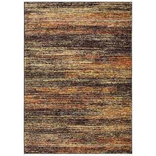 Carson Carrington Majorna Textural Stripes Gold/Charcoal Area Rug - 1'10 x 3'2