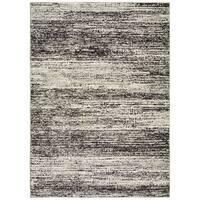 Carbon Loft Marcus Textural Stripes Ash/ Charcoal Area Rug - 1'10 x 3'2