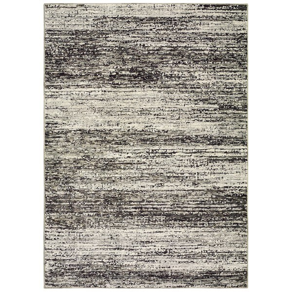 Style Haven Textural Stripes Ash/Charcoal Area Rug (1'10 x 3'2)