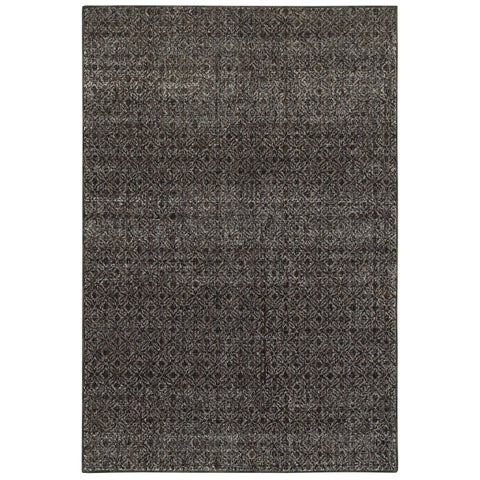 Carson Carrington Majorna Textural Diamonds Black and Grey Area Rug - 1'10 x 3'2