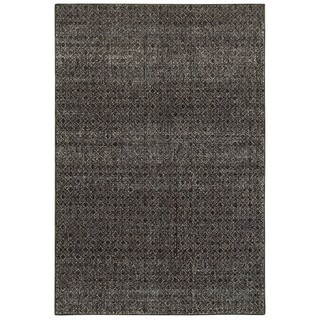 Style Haven Textural Diamonds Black and Grey Area Rug (1'10 x 3'2)
