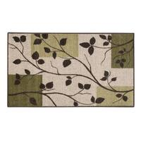 "DOGWOOD LEAVES ACCENT RUG sage (20""x34"") - 20 x 34"