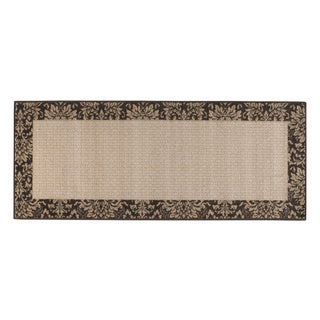 "DAMASK WEAVE ACCENT RUG CHOCOLATE - 22"" x 60"""