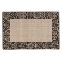 "DAMASK WEAVE ACCENT RUG CHOCOLATE - 30"" x 46"""