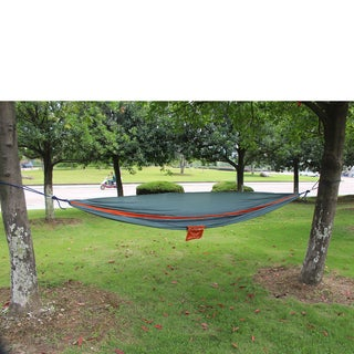2-person Orange and Grey Parachute Nylon Oversized Hammock