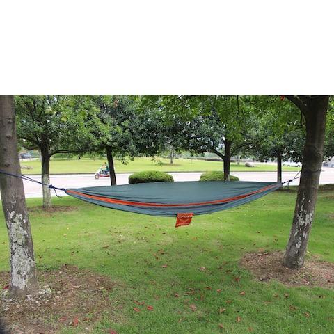 2-person Orange and Grey Parachute Nylon Oversized Hammock