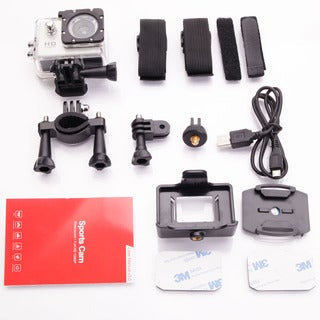 X4000-2 HD 1080P 90-Degree Wide-angle Lens Waterproof Sports Camera