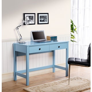 Othello writing desk in Blue Paint Finish