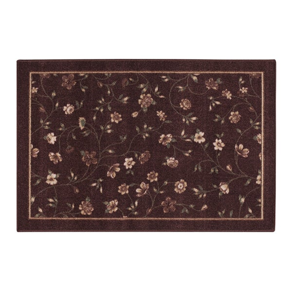 "PHOEBE ACCENT Rug BURGUNDY - 20"" x 34"""