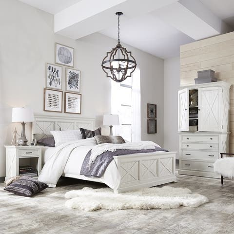 The Gray Barn Riverbone X-detail Queen Bed