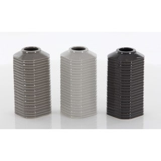 Benzara Assorted Ceramic Small Vases (Pack of 3)