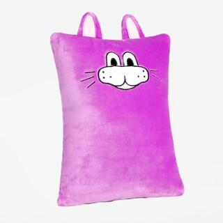Berkshire Blanket Childrens Pillow - Purple Cat