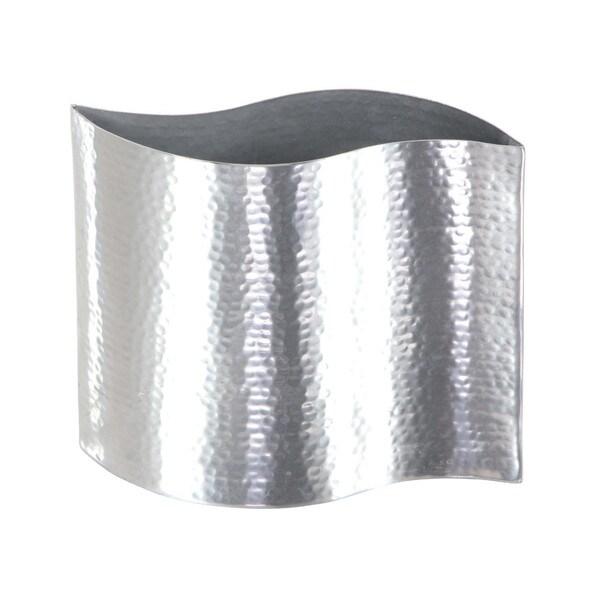 Shop Benzara Ambrosial Stainless Steel Vase Free Shipping On