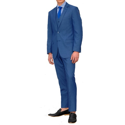 Ferrecci Men's Slim Fit Three Piece Suit