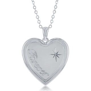 La Preciosa Sterling Silver 'Forever' Urn Locket 18-inch Heart Necklace