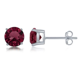 Link to La Preciosa Sterling Silver Crystal Birthstone Earrings with Swarovski Elements Similar Items in Birthstone Jewelry