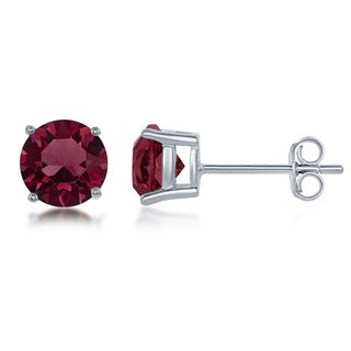 La Preciosa Sterling Silver Crystal Birthstone Earrings with Swarovski Elements