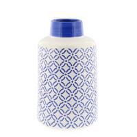 Benzara Blue and White Ceramic Vase