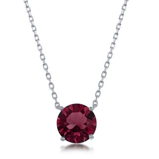 La Preciosa Sterling Silver Crystal Birthstone Necklace with Swarovski Elements