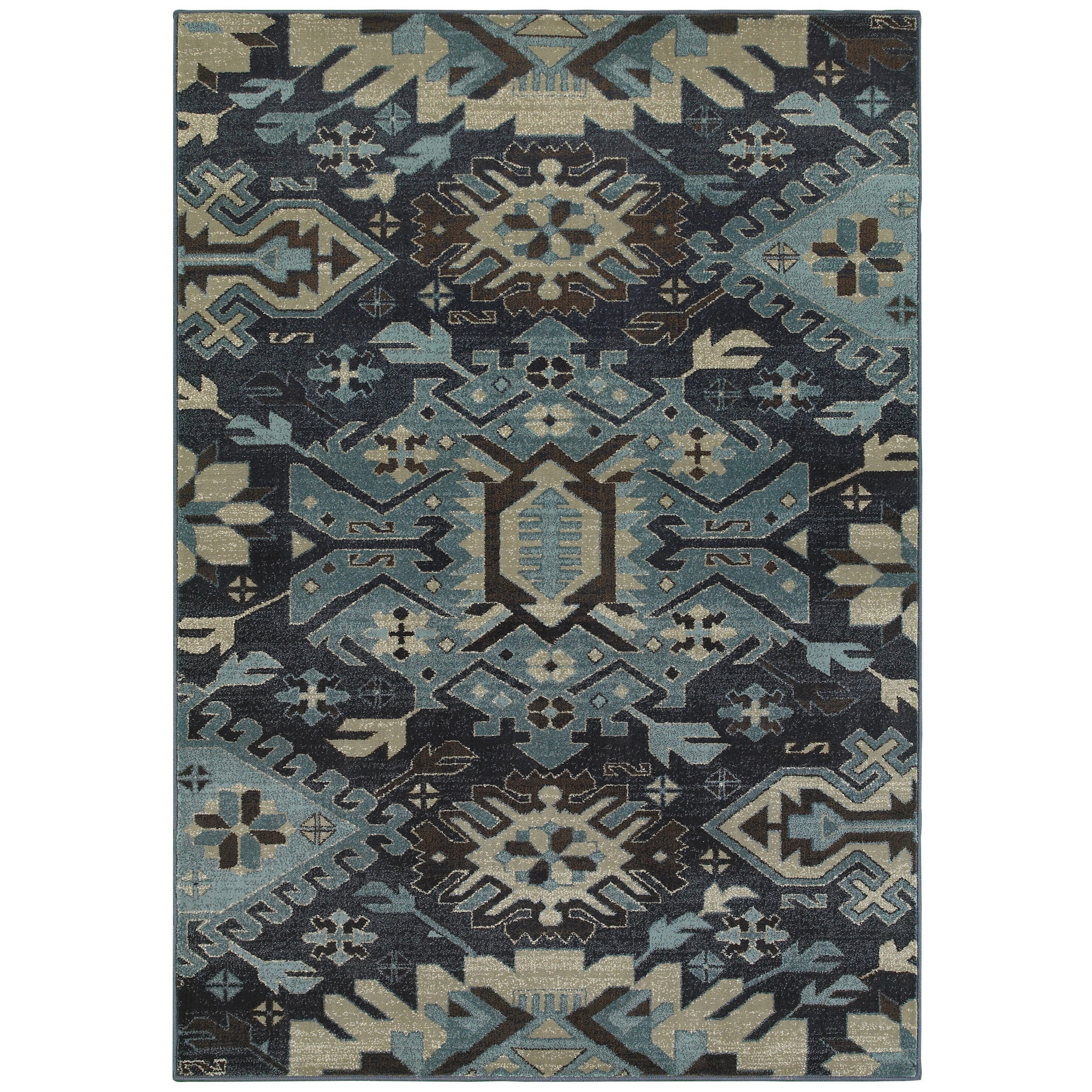 Shop Style Haven Tribal Blues Navy Blue Area Rug 1 10 X 3 1 10 X 3 On Sale Free Shipping On Orders Over 45 Overstock 14818596