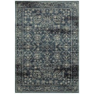 Style Haven Faded Traditions Navy/Beige Area Rug (1'10 x 3')