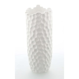 Benzara White Ceramic Large Vase