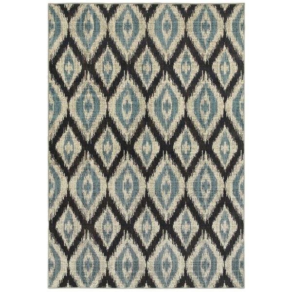 Style Haven Azul Vue Blue/Grey Area Rug (1'10 x 3')