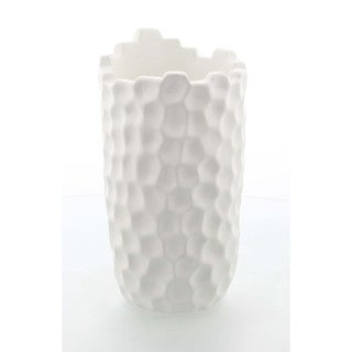 Benzara White Ceramic 9-inch Table Vase