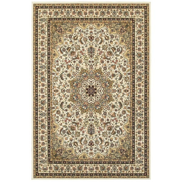 "Gracewood Hollow Stora Medallion Ivory/Beige Area Rug - 1'10"" x 3'"