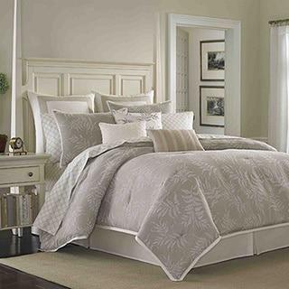 Laura Ashley Bracken Leaf 4-piece Queen Size Comforter Set (As Is Item)