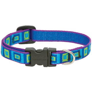 Lupine Collars & Leads Adjustable Sea Glass Design Dog Collar