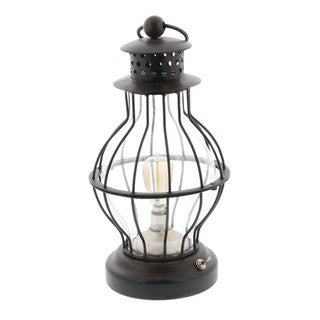 Benzara Bewitching Black Metal LED Lantern
