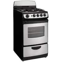 Danby DR201BSSGLP 20 inch Gas Range Black/Stainless Steel 2.40 cu. ft.