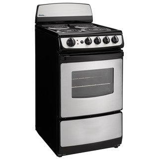 Danby DER201BSS 20 inch Electric Range Black and Stainless Steel 2.4 Cu. Ft