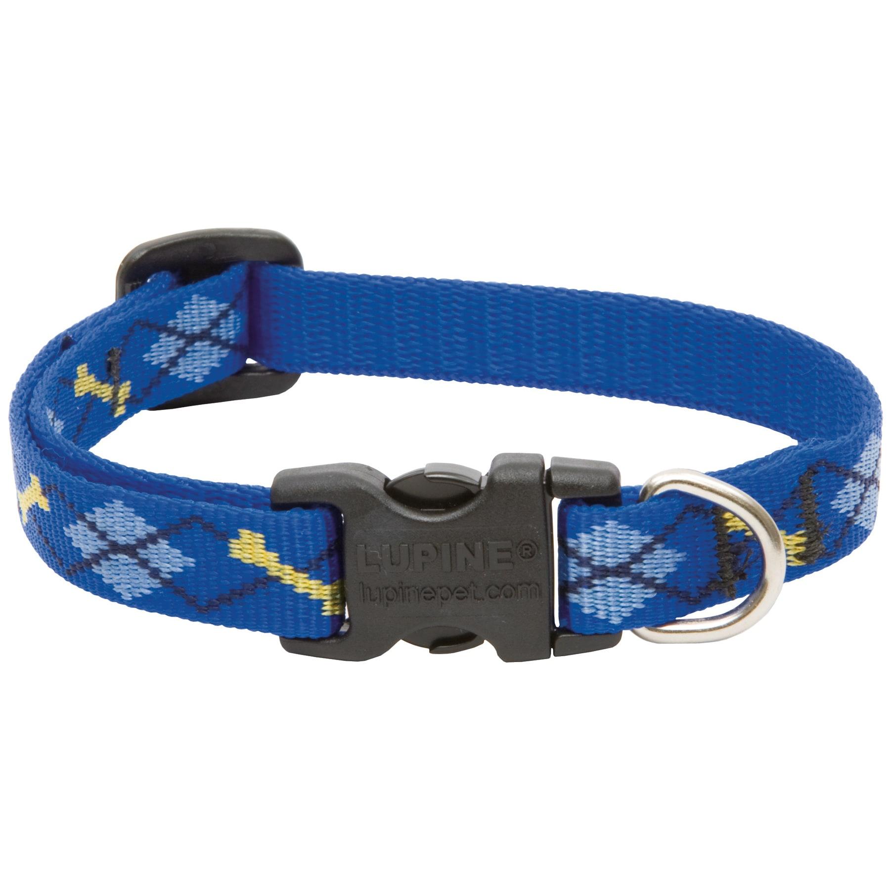 LUPINE Collars & Leads Adjustable Dapper Dog Design Dog C...