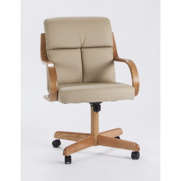 Caster Chair Company Frankie Swivel Bonded Leather Armchair. Opens flyout.