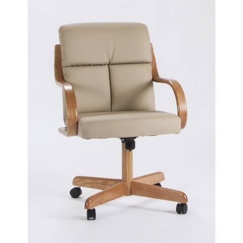 Caster Chair Company C178 Frankie Swivel Tilt Caster Arm Chair in Desert Bonded Leather