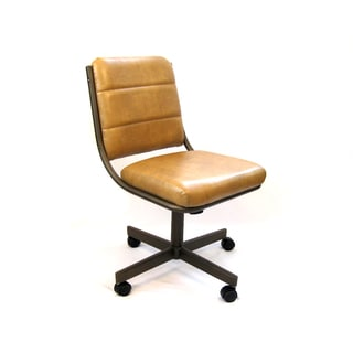 Caster Chair Company C310 Tori Casual Rolling Caster Dining Chair with Buff Polyurethane Seat a