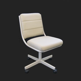 Caster Chair Company Tori Beige Rolling Caster Dining Chair