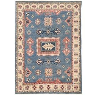 Herat Oriental Afghan Hand-knotted Vegetable Dye Kazak Wool Rug (5'1 x 7')