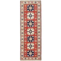 Herat Oriental Afghan Hand-knotted Vegetable Dye Kazak Wool Runner (2'1 x 5'10)