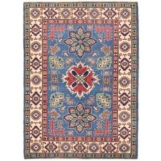 Herat Oriental Afghan Hand-knotted Vegetable Dye Kazak Wool Rug (4'11 x 6'10)