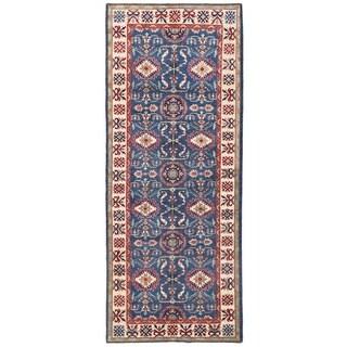 Herat Oriental Afghan Hand-knotted Vegetable Dye Kazak Wool Runner (5'6 x 14')
