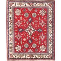 Herat Oriental Afghan Hand-knotted Vegetable Dye Kazak Wool Rug (7'10 x 9'10)