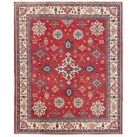 Herat Oriental Afghan Hand-knotted Vegetable Dye Kazak Wool Rug (7'11 x 9'11)
