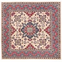 Herat Oriental Afghan Hand-knotted Vegetable Dye Kazak Wool Rug (8'1 x 7'9)